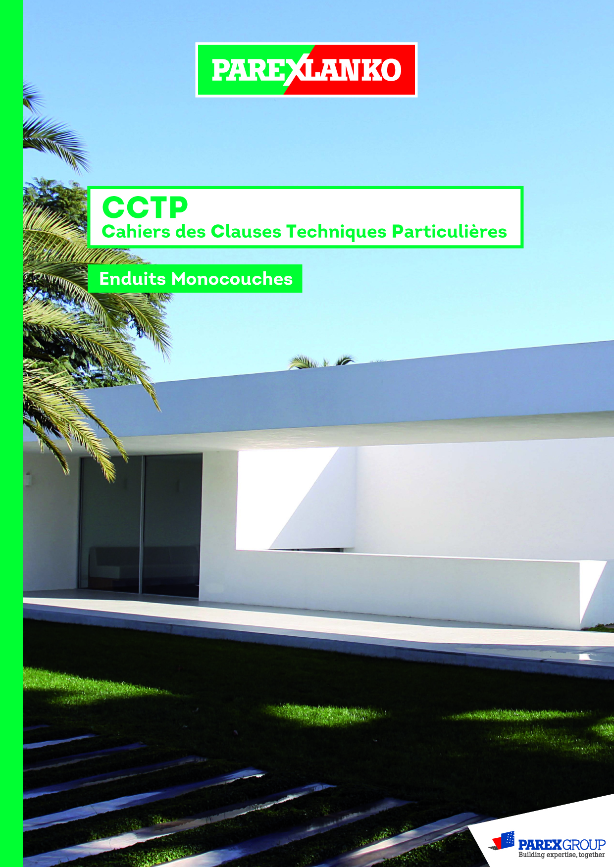cctp enduit monocouche parexlanko traitement de facade. Black Bedroom Furniture Sets. Home Design Ideas